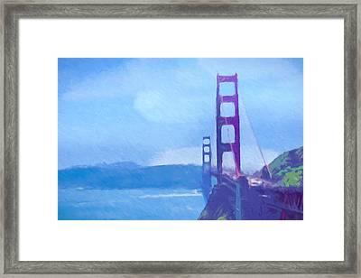 Golden Gate Impressionist Framed Print