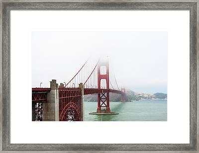 Golden Gate In The Fog Framed Print