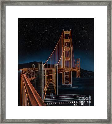 Golden Gate Framed Print by Lynette Cook