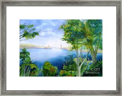 Golden Gate San Francisco Framed Print by Maryann Schigur