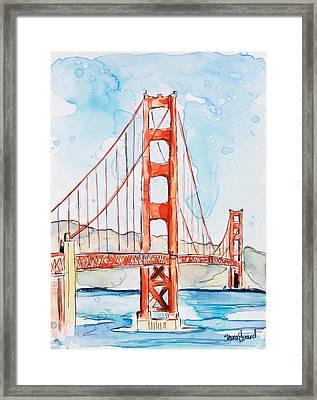 Golden Gate Framed Print by Shaina Stinard
