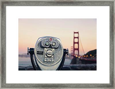 Golden Gate Sunset - San Francisco California Photography Framed Print by Melanie Alexandra Price