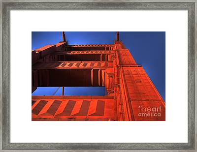 Golden Gate Tower Framed Print by Jim and Emily Bush