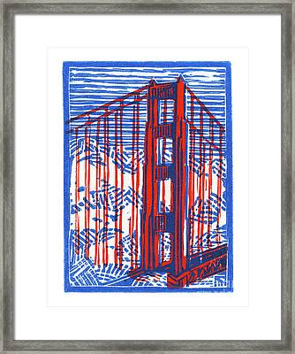 Golden Gate North Tower Framed Print by Tom Taneyhill