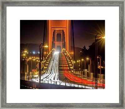 Golden Gate Traffic Framed Print