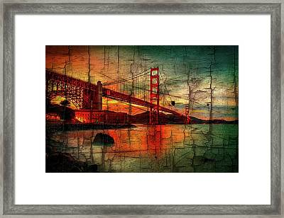 Golden Gate Weathered Framed Print