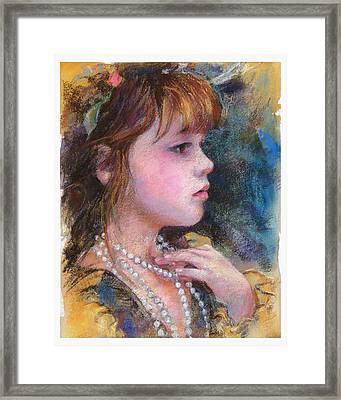 Golden Girl Framed Print by Debra Jones
