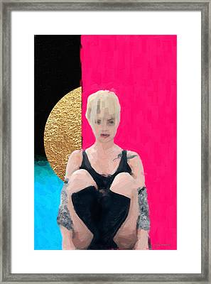 Framed Print featuring the digital art Golden Girl No. 3 by Serge Averbukh