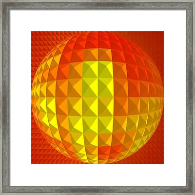 Golden-globe Framed Print by Ramon Labusch