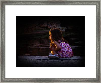 Golden Glow Girl Framed Print