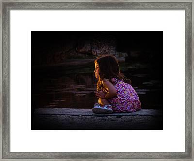 Golden Glow Girl Framed Print
