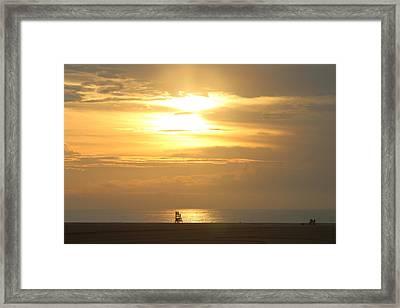 Framed Print featuring the photograph Golden Glow by Robert Banach
