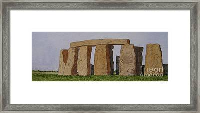 Golden Glow- Stonehenge Framed Print by Thom Glace