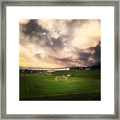 Golden Goal Framed Print