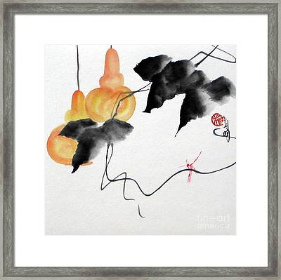 Golden Gourds Framed Print by Ming Yeung
