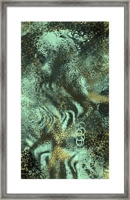 Golden Green Framed Print