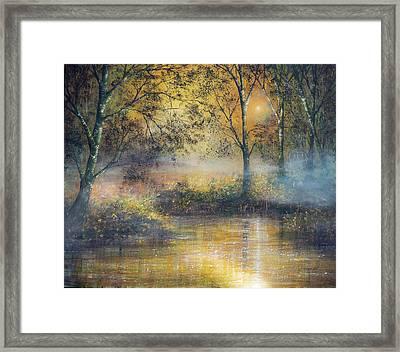 Golden Haze Framed Print by Ann Marie Bone