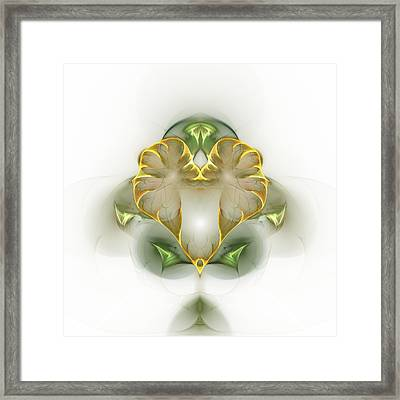 Framed Print featuring the digital art Golden Heart by Richard Ortolano