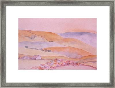 Golden Hills Framed Print
