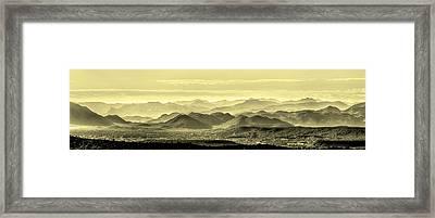 Golden Hills Of The Tonto Framed Print