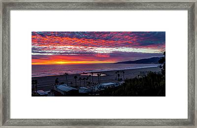 Golden Horizon At Sunset -  Panorama Framed Print