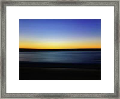 Golden Horizon Framed Print