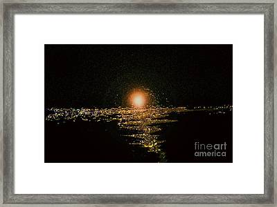 Golden Horizon Framed Print