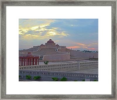 Golden Hour At Ambedkar Park Framed Print