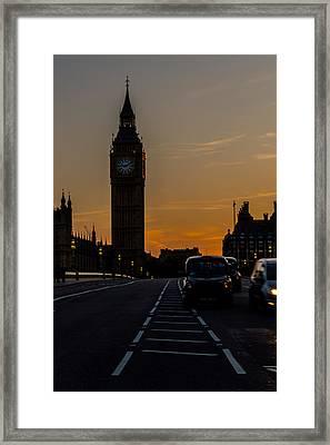 Golden Hour Big Ben In London Framed Print