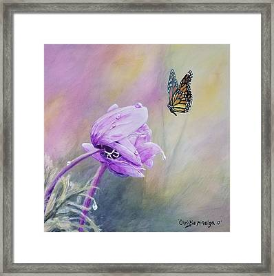 Framed Print featuring the painting Golden Hour by Christie Minalga