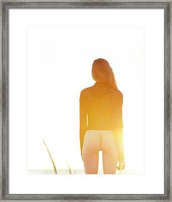 Golden Hour Girl Framed Print