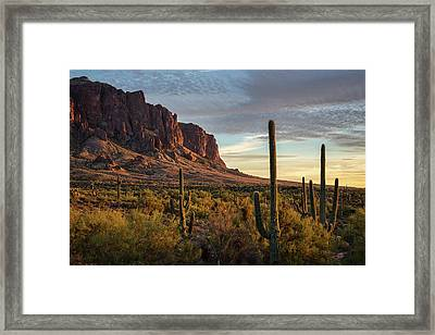 Golden Hour In The Supes  Framed Print