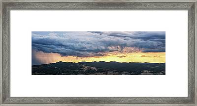 Golden Hour In Volterra Framed Print