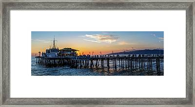 Golden Hour - Panorama Framed Print
