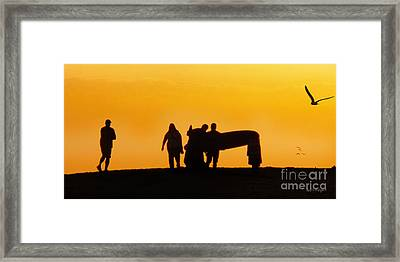 The Golden Hour Framed Print by Rhonda Strickland
