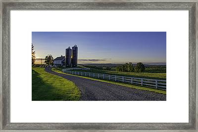 Golden Hour Silos Framed Print by Angelo Marcialis