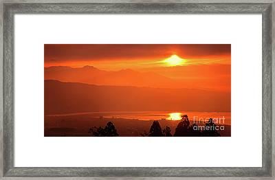 Framed Print featuring the photograph Golden Hour by Tatsuya Atarashi