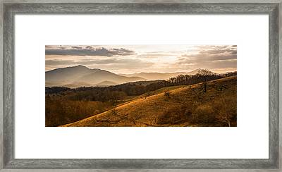 Grandfather Mountain Sunset - Moses Cone Blue Ridge Parkway Framed Print