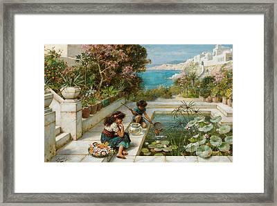 Golden Hours In Olden Times Framed Print by William Stephen Coleman