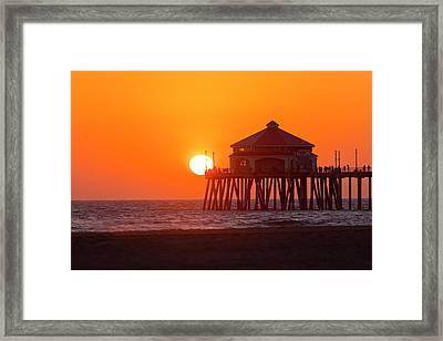 Golden Huntington Framed Print