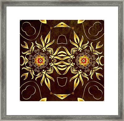 Golden Infinity Framed Print