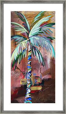 Golden Jasper Palm Framed Print