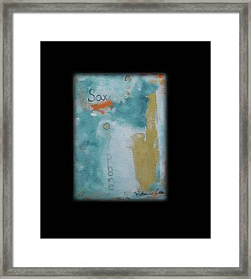 Golden Jazz Framed Print by Robin Lee