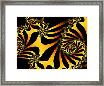 Golden Ladder To Nowhere Framed Print
