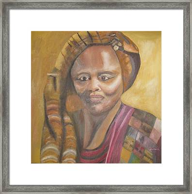 Golden Lady Framed Print by Keith Bagg