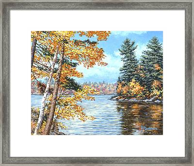 Golden Lake Framed Print by Richard De Wolfe