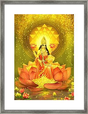 Golden Lakshmi Framed Print by Lila Shravani