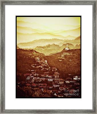 Golden Landscape By Raphael Terra Framed Print by Raphael Terra