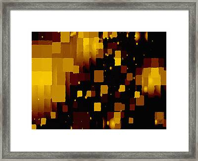 Framed Print featuring the digital art Golden Light And Dark  by Shelli Fitzpatrick