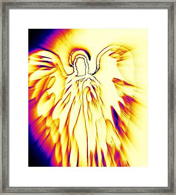Golden Light Angel Framed Print